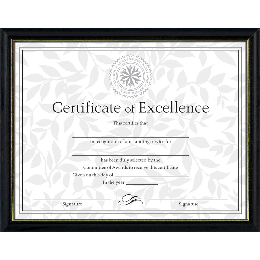 Dax Burns Group Two Tone Certificate Frame