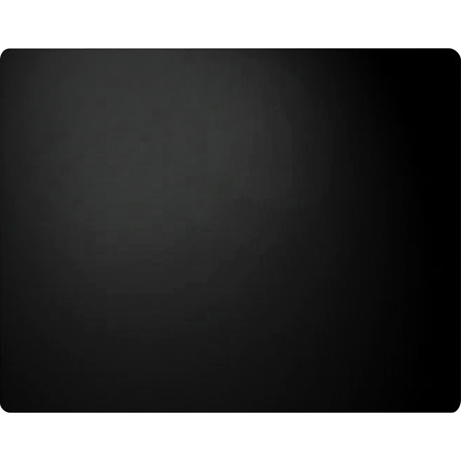 Artistic Plain Leather Desk Pad Rectangle 36 Width Black