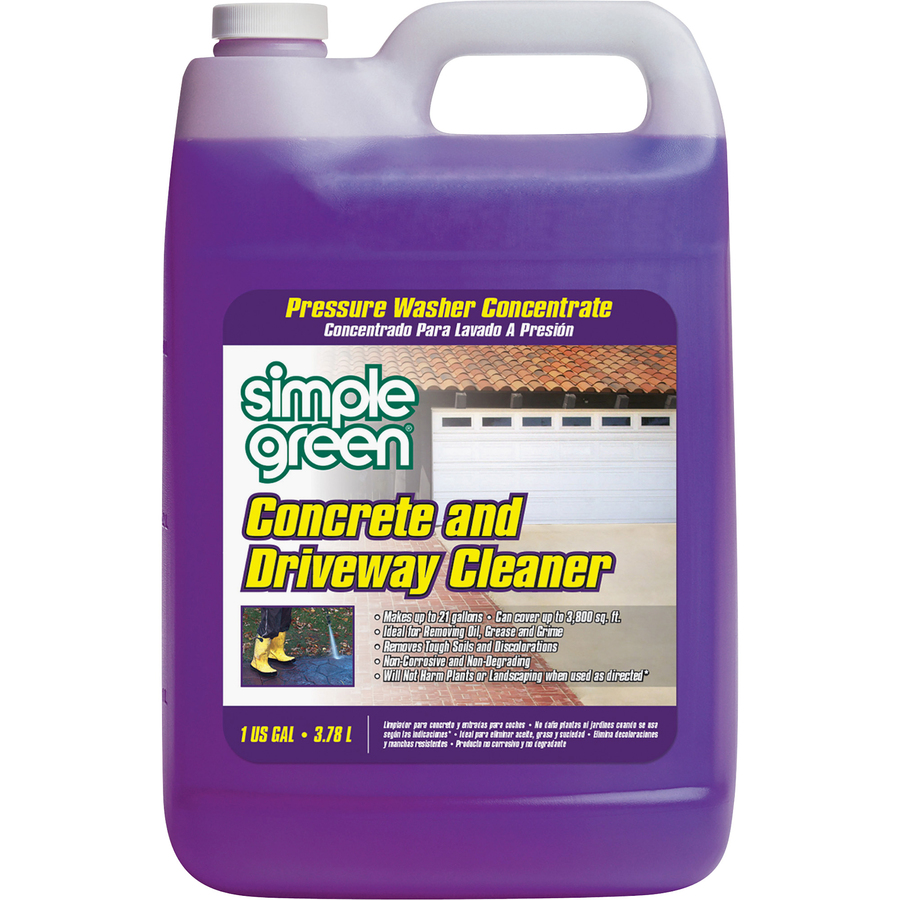 Bulk simple green concrete driveway cleaner concentrate for Best pressure cleaner for concrete