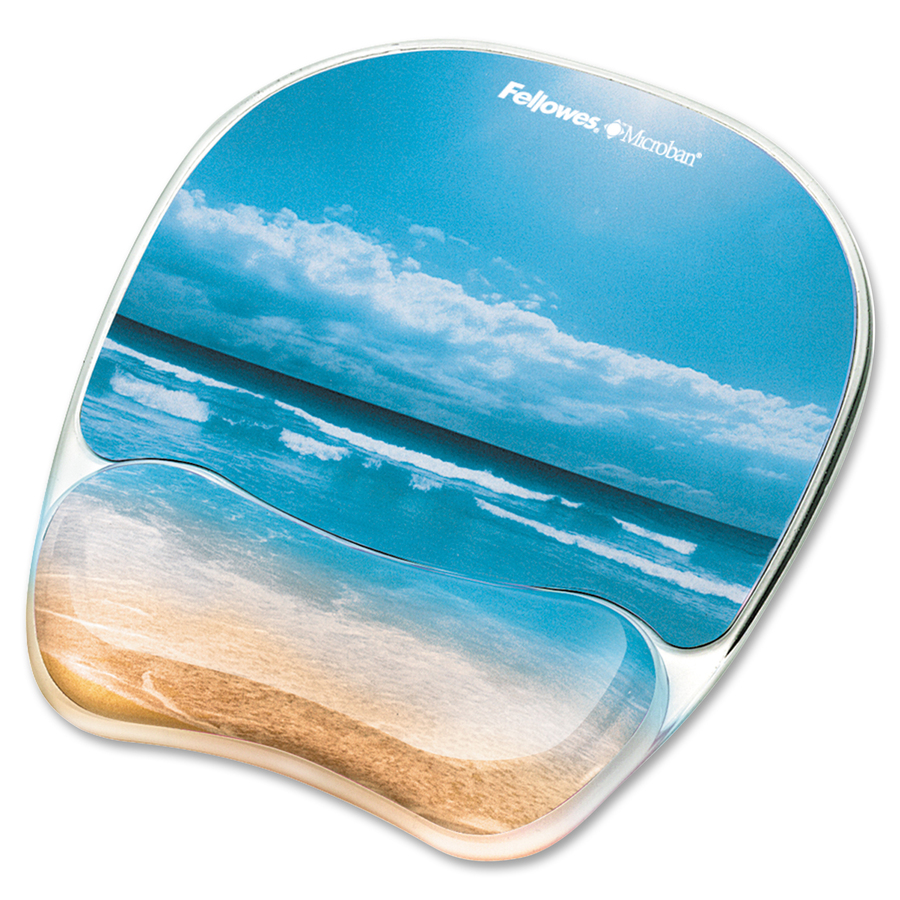 Fellowes Photo Gel Mouse Pad Wrist Rest With Microban 174