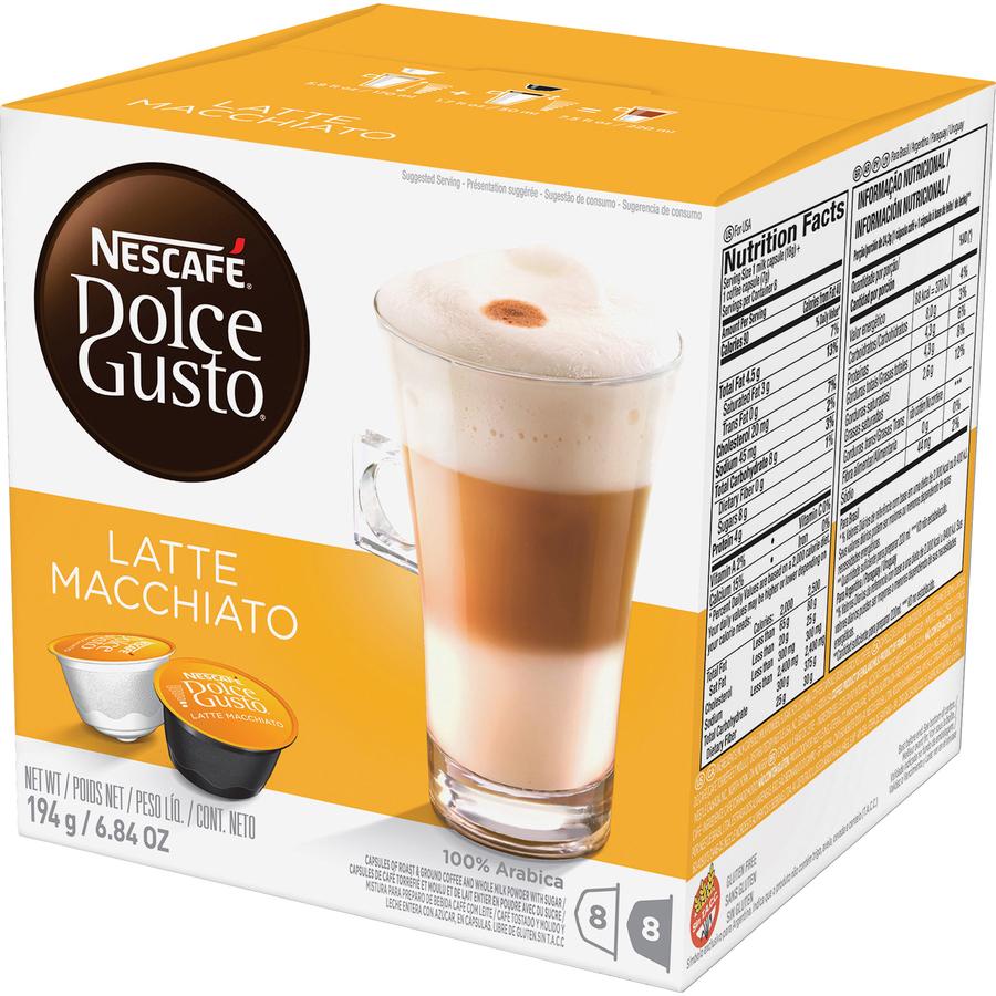 Nescafe Dolce Gusto Latte Macchiato Coffee Pods Pod - Compatible with  Majesto Automatic Coffee Machine - Latte Macchiato, Espresso, Rich Aroma -  16 /