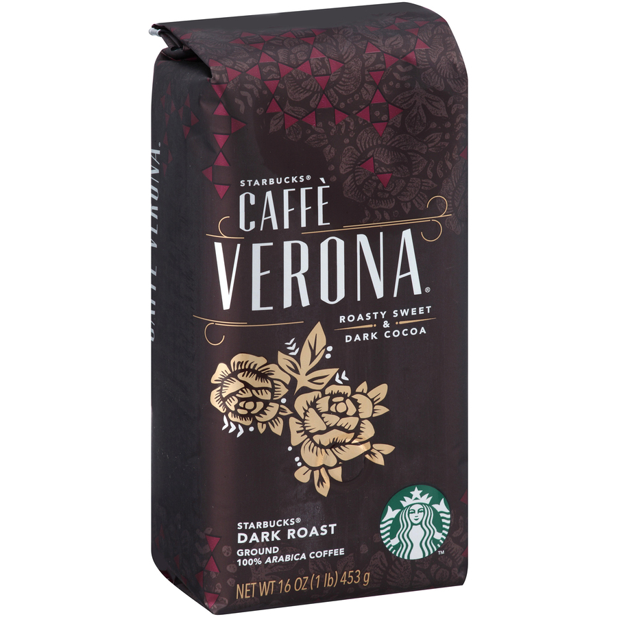 Starbucks Corporation Starbucks 1 Lb  Cafe Verona Dark Roast Ground Coffee  Ground - Regular - Caffe Verona - Dark/bold - 16 Oz - 1 Each