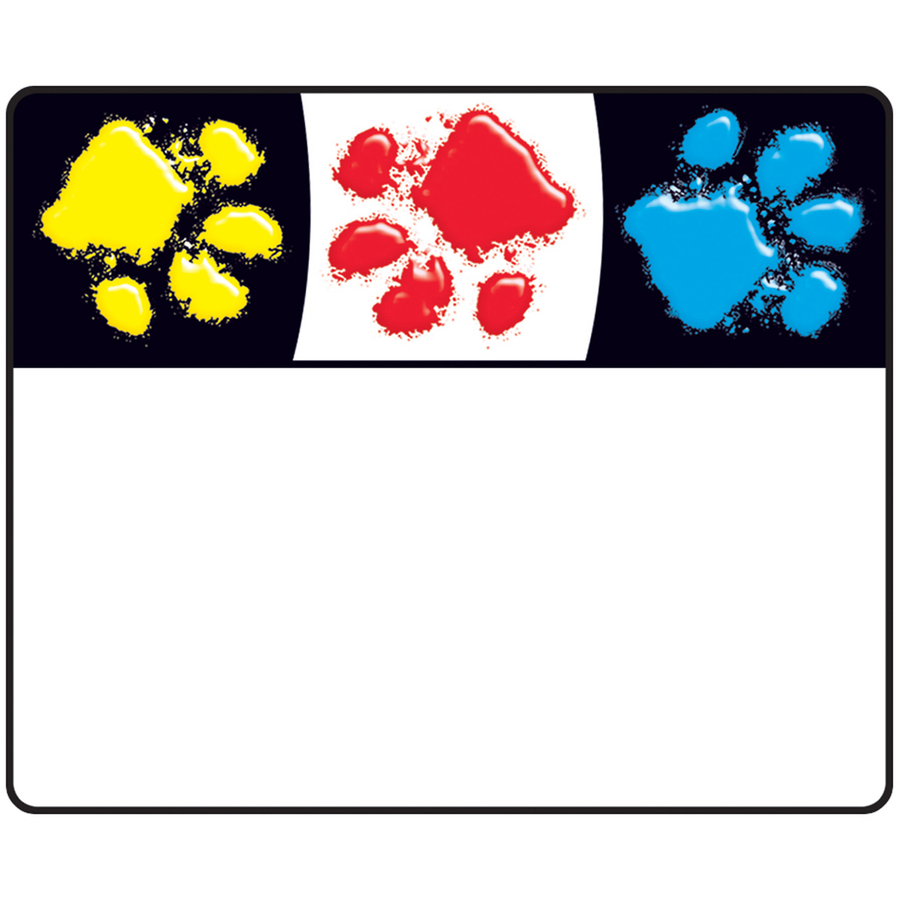 Trend Paw Print Name Tags - 2 50