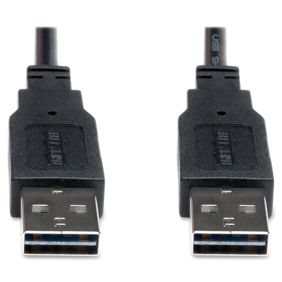 Reversible USB Cable Tripp LITE 6 ft Black A Male to A Male