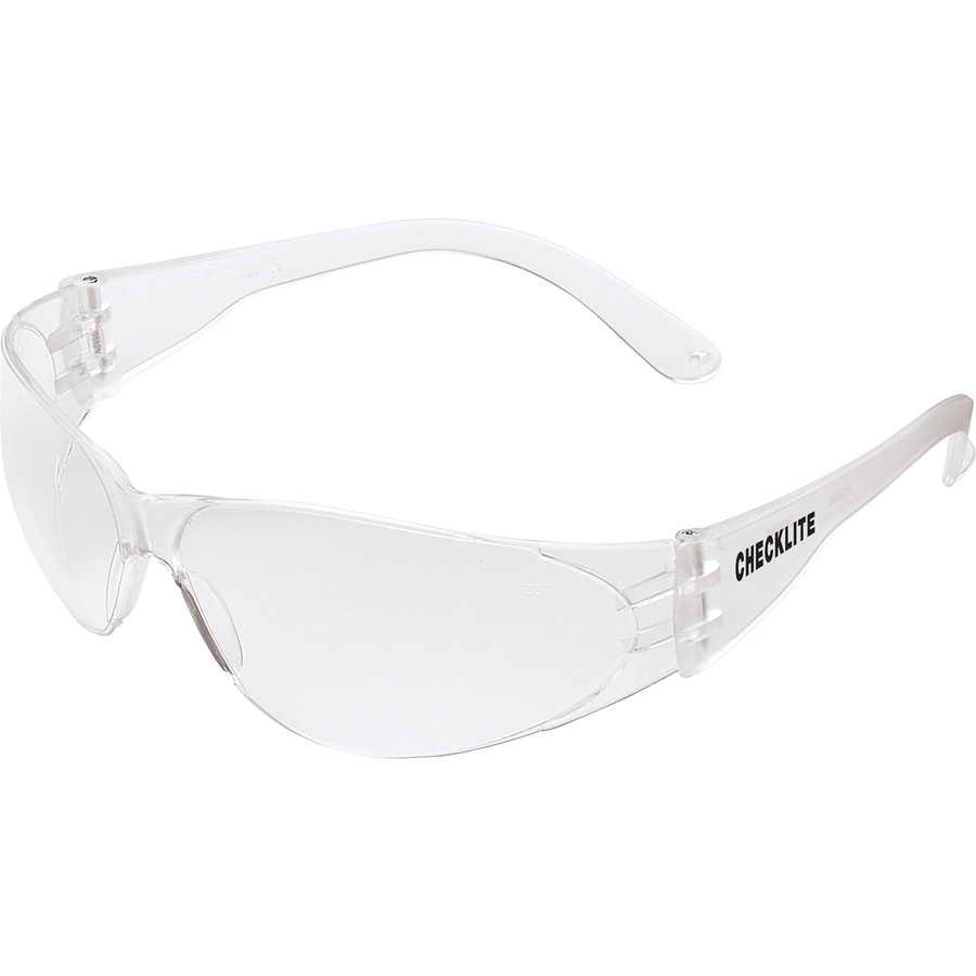 94648ef6e35a Crews Checklite Anti-fog Safety Glasses - Anti-fog, Scratch Resistant,  Lightweight - Ultraviolet Protection - Polycarbonate Lens - Clear - 1 Each    INK ...