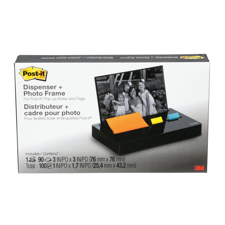 Computer Post: Post-it® Pop-up Note And Flag Dispenser, Photo Frame