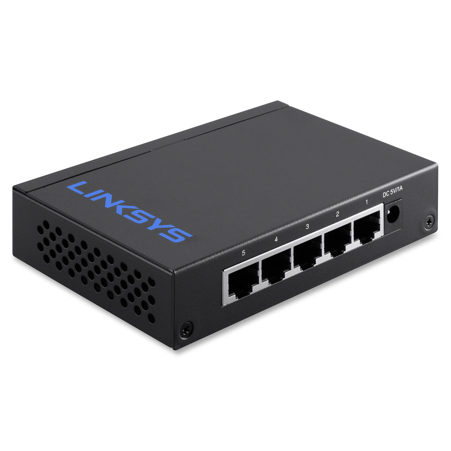 Linksys 5 Port Desktop Gigabit Switch - 5 Ports - 2 Layer Supported -  Twisted Pair - Desktop, Wall Mountable - Lifetime Limited Warranty