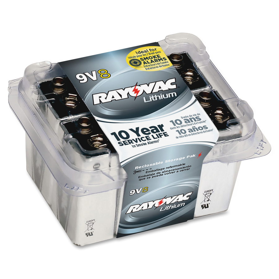 rayovac r9vl 8 9 volt lithium battery. Black Bedroom Furniture Sets. Home Design Ideas
