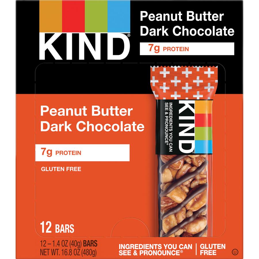 KIND Peanut Butter Dark Chocolate Plus Protein Kind Bars - Gluten-free,  Wheat-free, Non-GMO, Sulfur dioxide-free - Peanut Butter, Dark Chocolate -