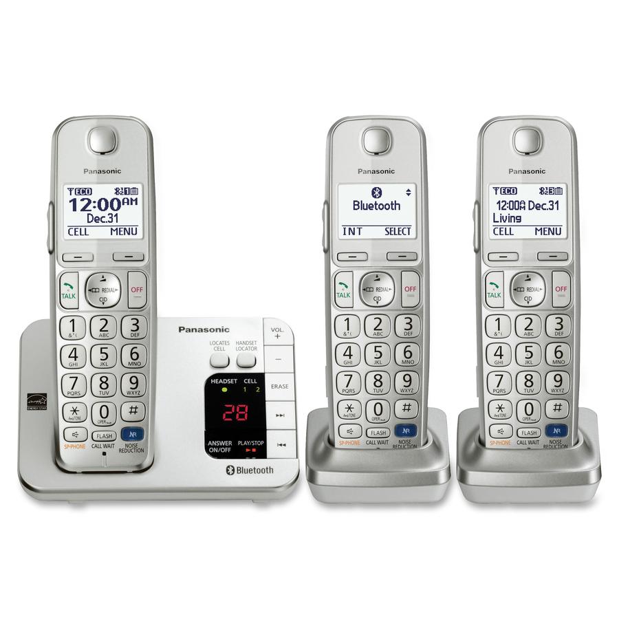 7fc9d9cc055 Teléfono Inalámbrico Panasonic Link2Cell KX-TGE263S - 1,90 GHz ...