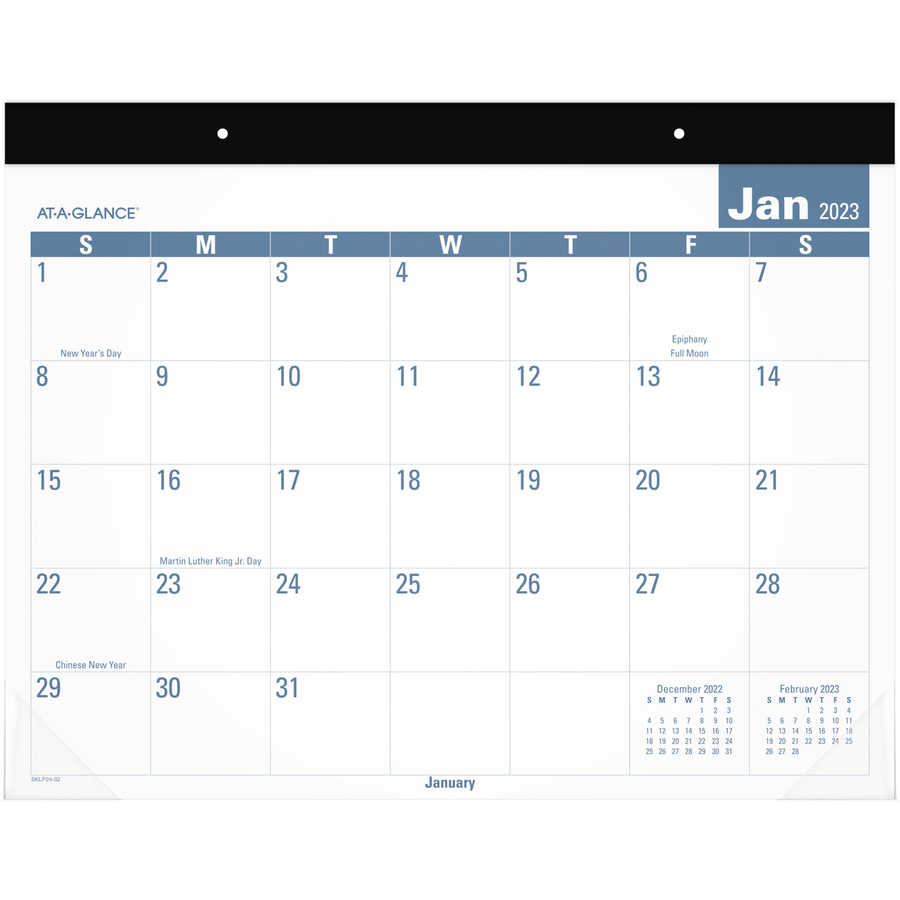 Office Depot Brand Large Monthly Desk Pad Calendar 22 X 17 White