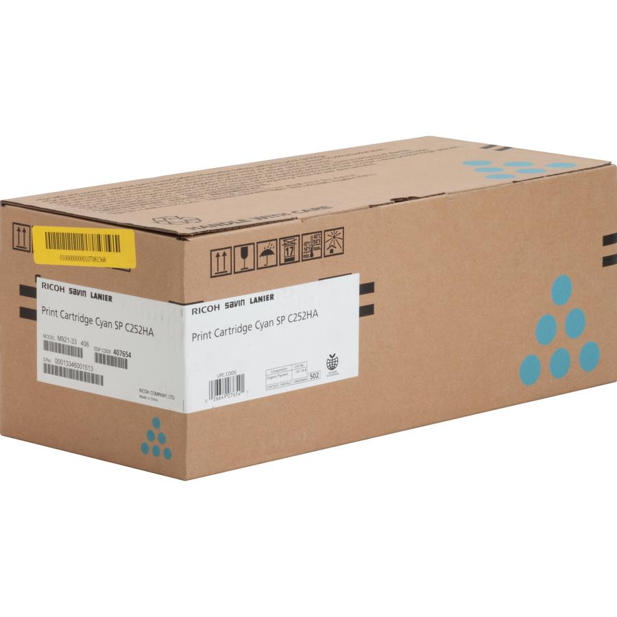 Ricoh SP C252HA Original Toner Cartridge - Laser - 6000 Pages - Cyan - 1  Each