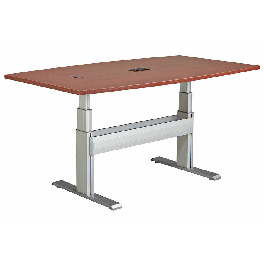 Ergonomic X Conference Table With Support Channel - Height adjustable meeting table