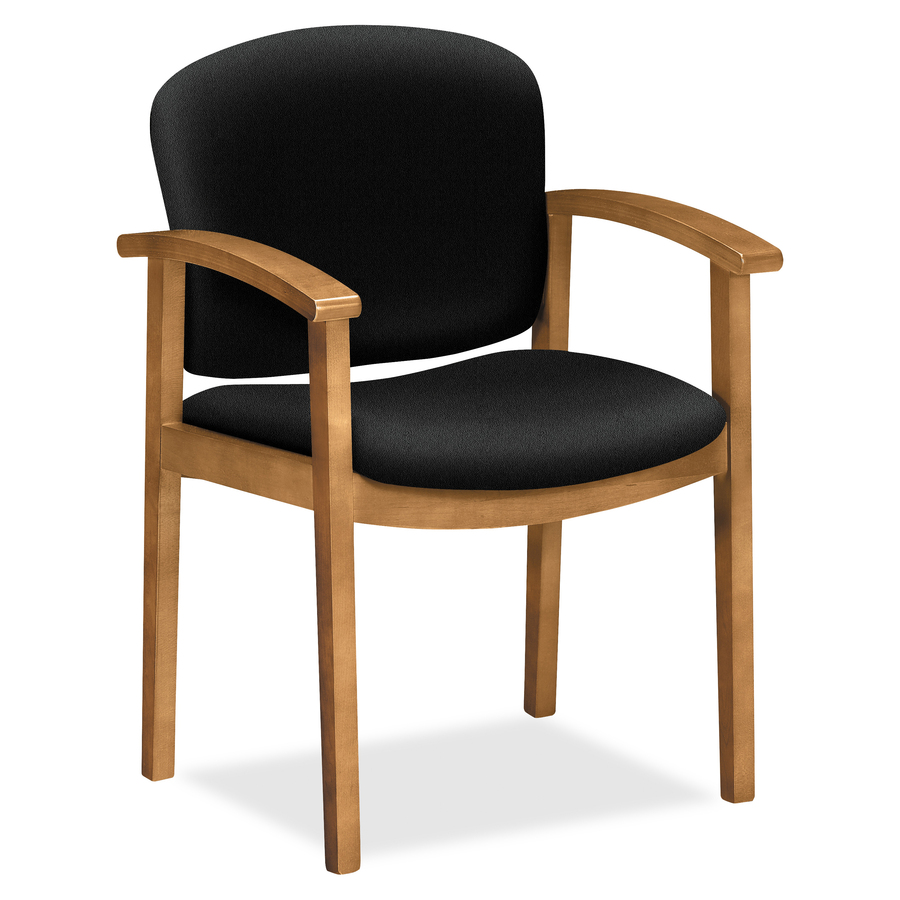 hon 2111 single rail harvest wood guest chairs direct office buys