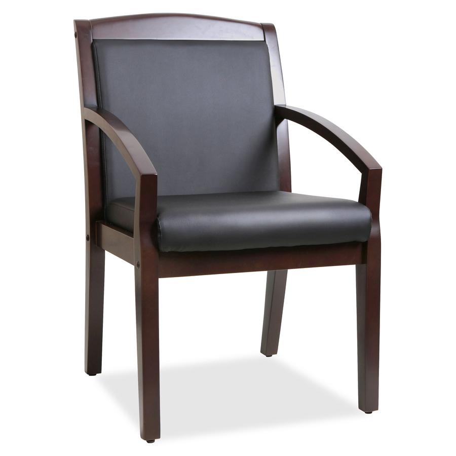 Llr20015 Lorell Sloping Arms Wood Guest Chair Zuma