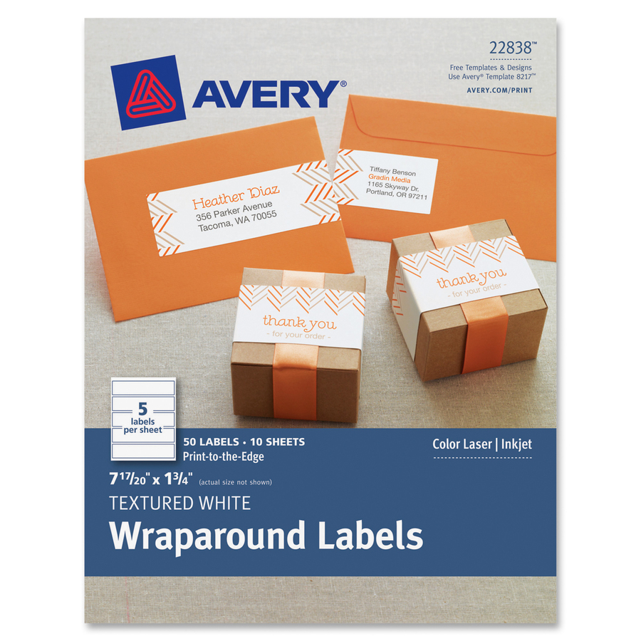 Discount Ave8217 Avery 8217 Avery Textured White Print To The Edge