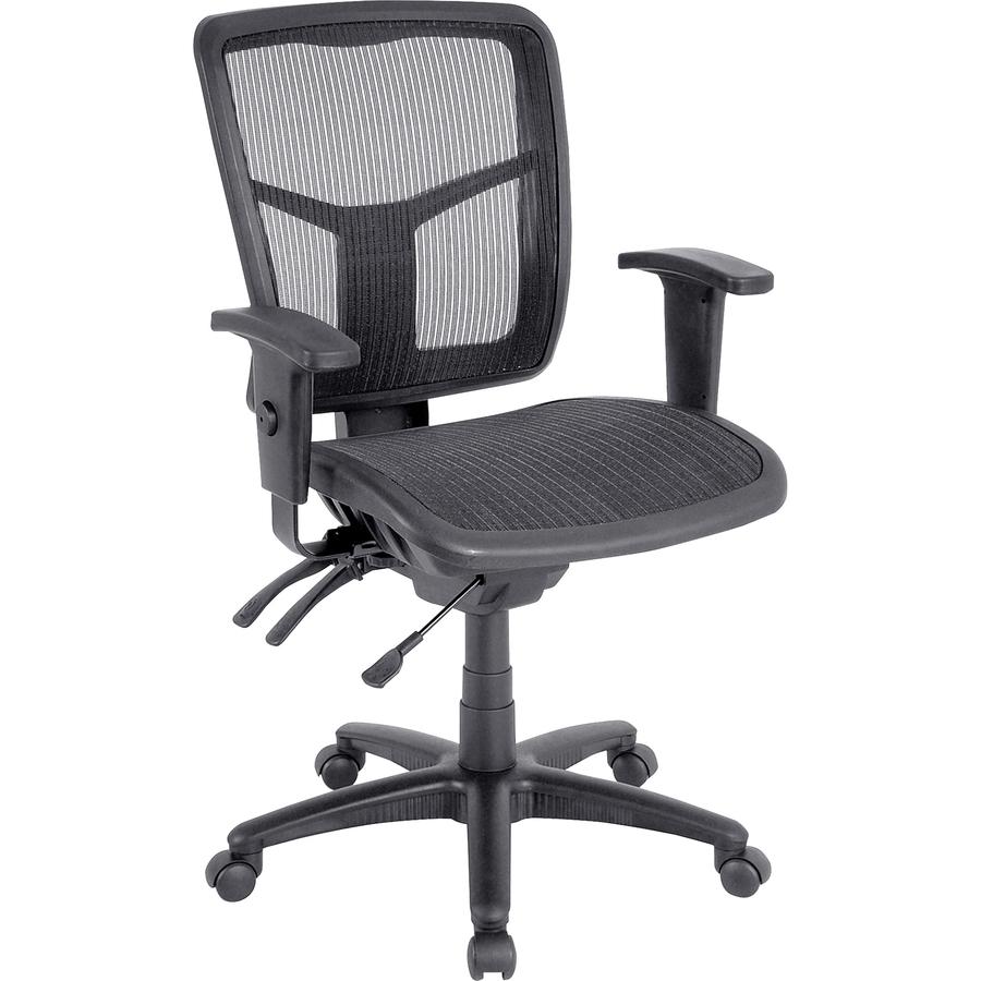 Llr86904 Lorell Mid Back Swivel Mesh Chair Black Frame