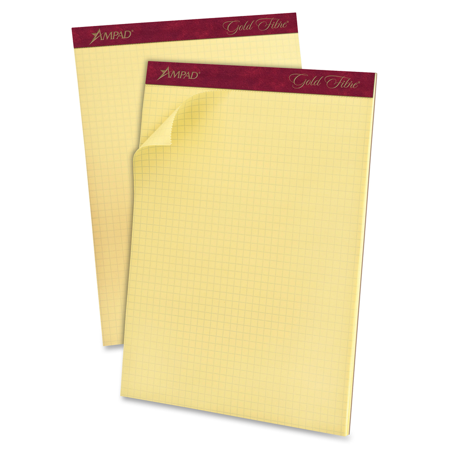 Ampad Medium Weight Quadrille Pads   Letter   50 Sheets   Both