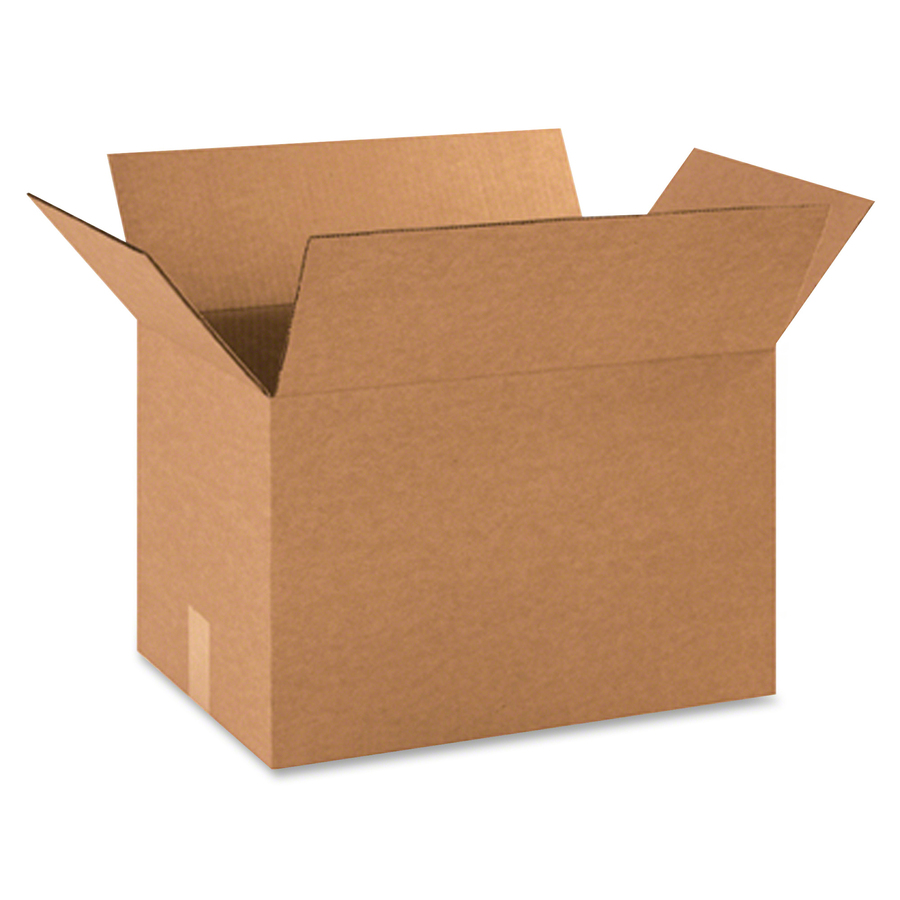 BOX Partners Corrugated Shipping Boxes - 200 lb - Corrugated - Kraft - For  Paper, Form, Catalog - 25 / Pack