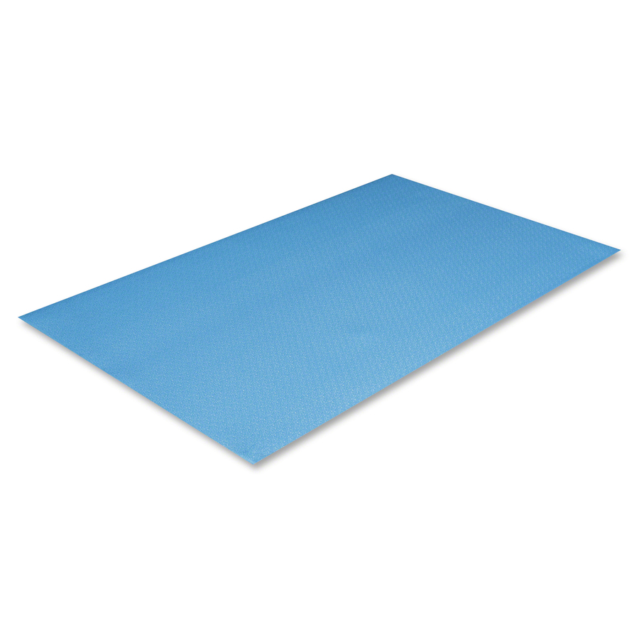 Crown Mats Comfort King Anti Fatigue Mat Floor Indoor 36 Length X 24 Width 0 38 Thickness Rectangle Extra Bounce Sponge Pvc Foam Royal Blue