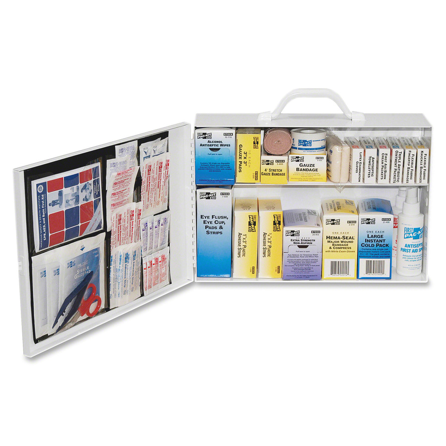 Pac-kit Safety Equipment 75-person First Aid Kit - 443 X Piece(S) For 75 X  Individual(S) - 11 Height X 15 5 Width X 4 8 Depth - Steel Case - 1 / Kit
