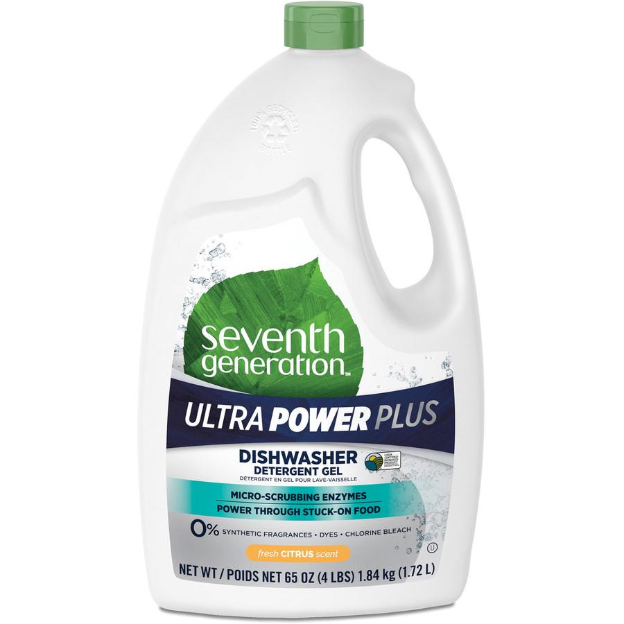 Seventh Generation Ultra Power-Plus Dishwasher Gel - Gel - Fresh Scent - 1  / Bottle