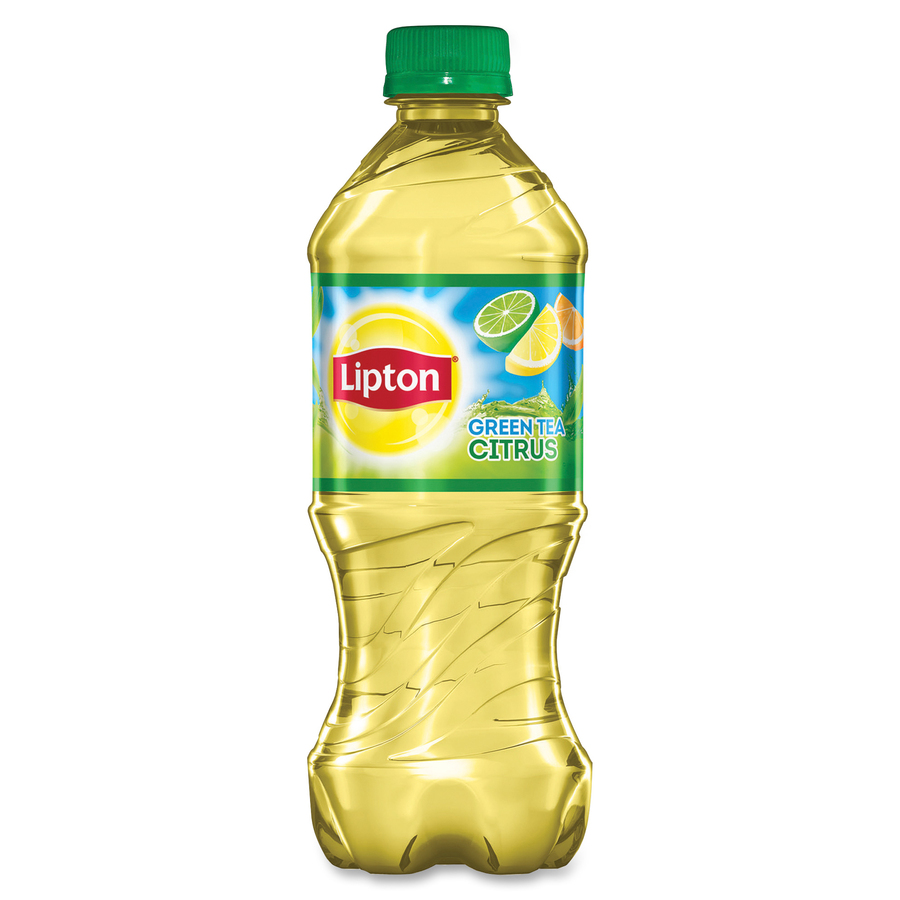 pep92375 lipton pepsico citrus green tea bottle office supply hut