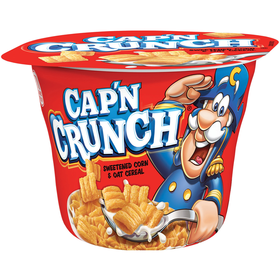 quaker oats cap 39 n crunch corn oat cereal bowl