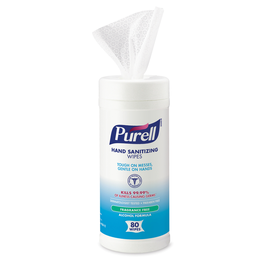 PURELL® Clean Scent Hand Sanitizing Wipes - Clean - White - Durable