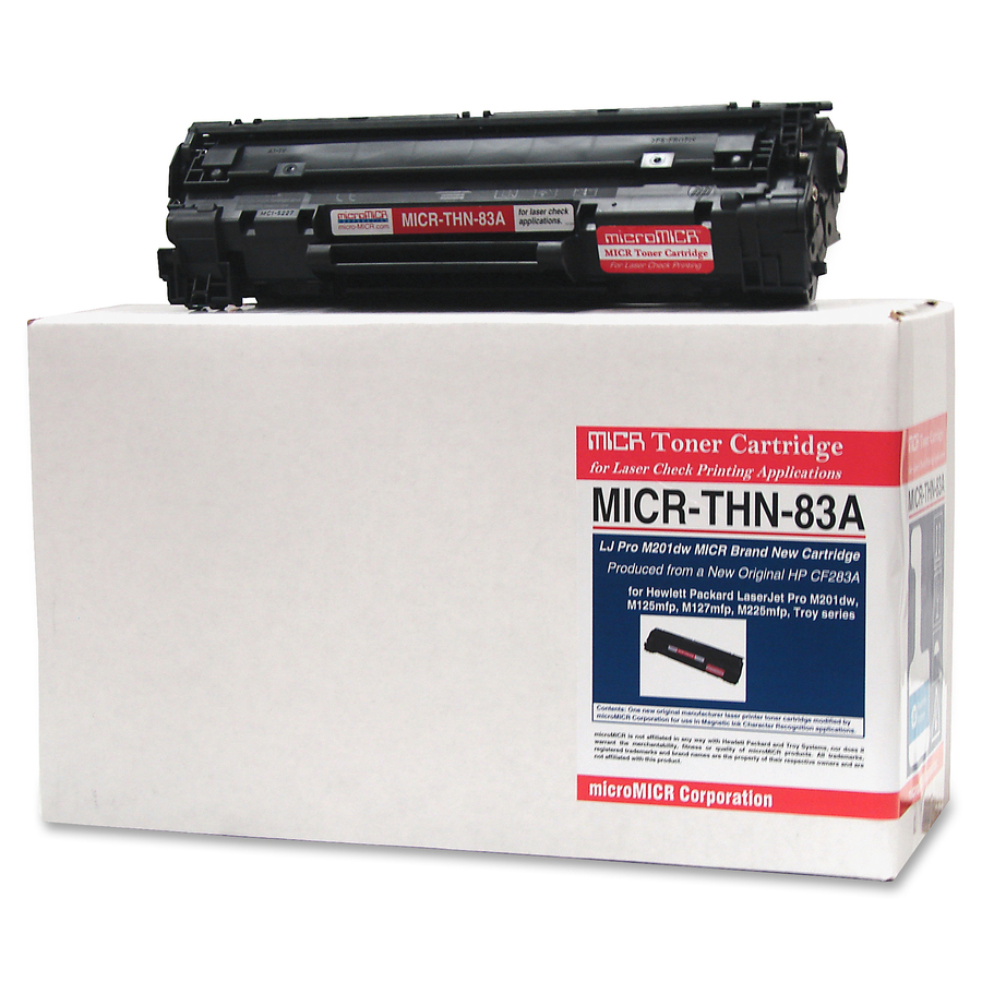 Micromicr Corporation Micromicr Micr Toner Cartridge - Alternative For HP  (83A) - Laser - Standard Yield - 1500 Pages - Black - 1 Each
