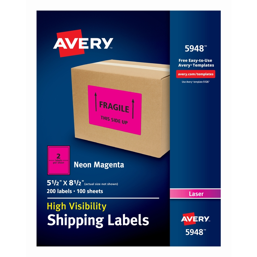 avery neon shipping labels icc business products office