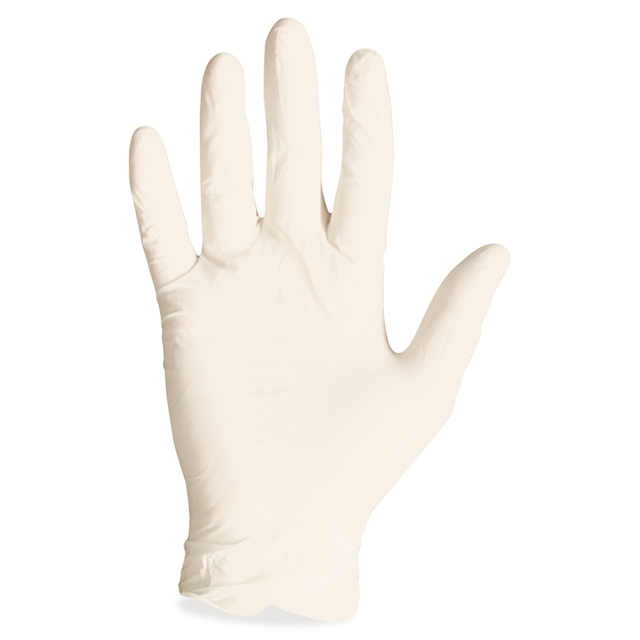 ProGuard Disposable Latex PF General Purpose Gloves - X-Large Size - Unisex - Latex - Natural - Powder-free, Disposable, Beaded Cuff, Ambidextrous, Comfortable - For Food Handling, Assembling, Manufacturing, General Purpose - 100 / Box