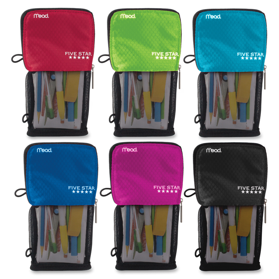 Five Star Stand N Store Carrying Case Pouch Pencil Accessories Assorted Puncture Resistant Fabric