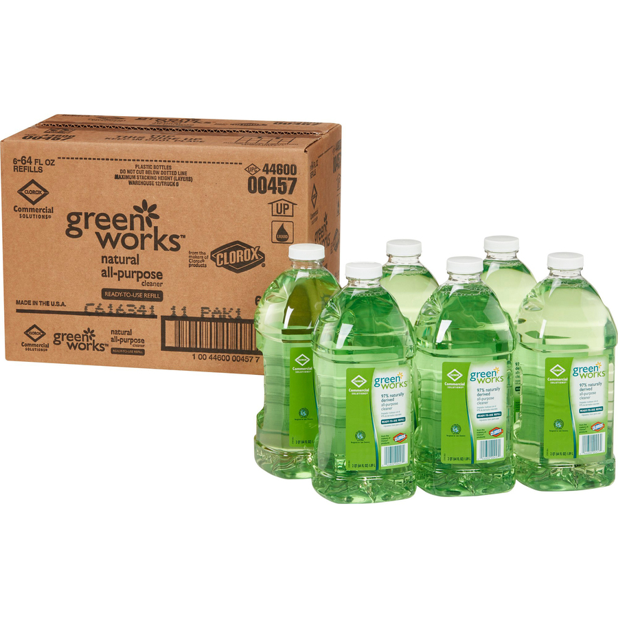 The Clorox Company Green Works All-purpose Cleaner Refill - Liquid - 64FL  Oz - 6 / Carton - Refill