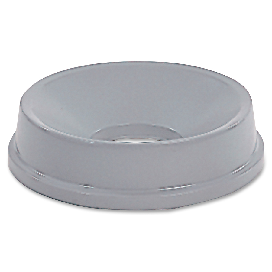 Rubbermaid Commercial Products Rubbermaid Commercial Untouchable Round  Funnel Top - Round - High-density Polyethylene (Hdpe) - 1 Each - Gray