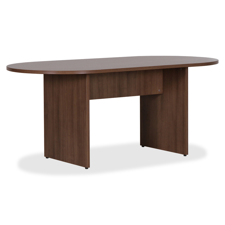 Lorell Essentials Walnut Laminate Oval Conference Table - 1 3