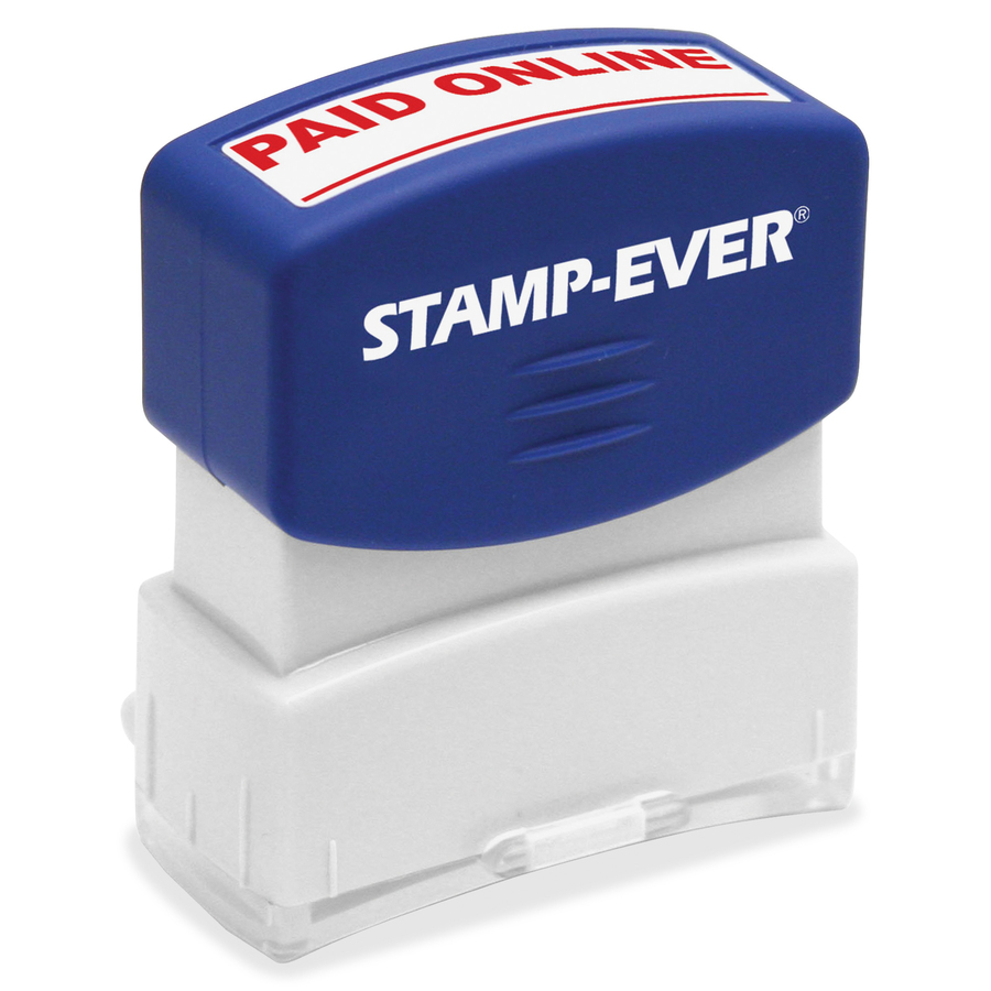 Stamp Ever Paid Online Pre Inked Message 1 69 Impression Width X 0 56 Length 50000 S Red Each