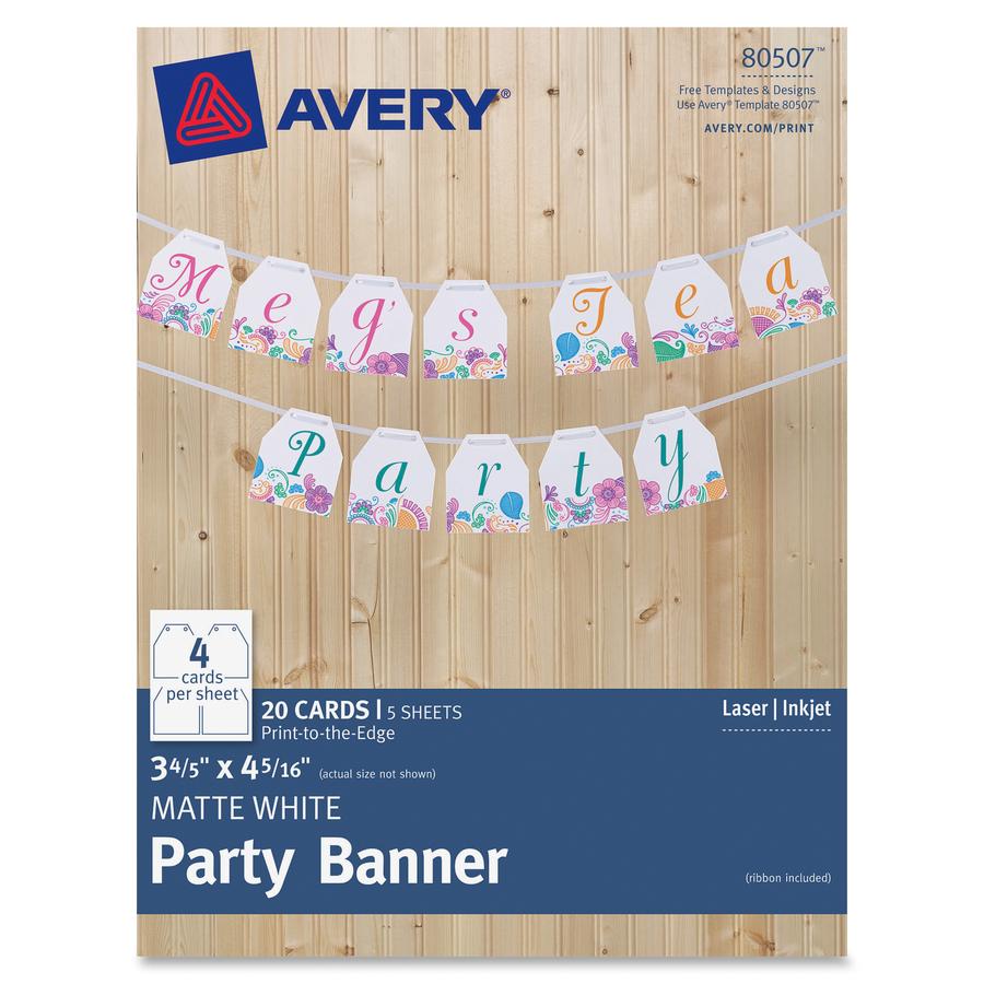 Avery Banner Template Kubreforic
