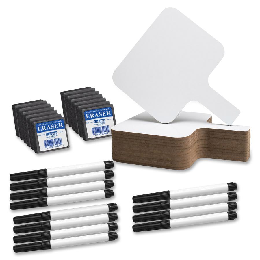 Flipside Rectangle Dry Erase Answer Paddle Set - 8