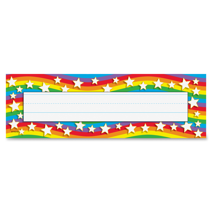 trend star rainbow desk toppers name plates mac papers inc