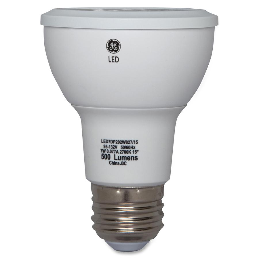 General Electric Company Ge Lighting 7 Watt Led Light Bulb W 3600 Cd White Color E26 Base 25000 Hour 4400 3f 2426 8c