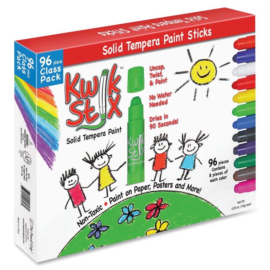 Set of 12 Metalix Colors The Pencil Grip Kwik Stix Solid Tempura Paint TPG-614