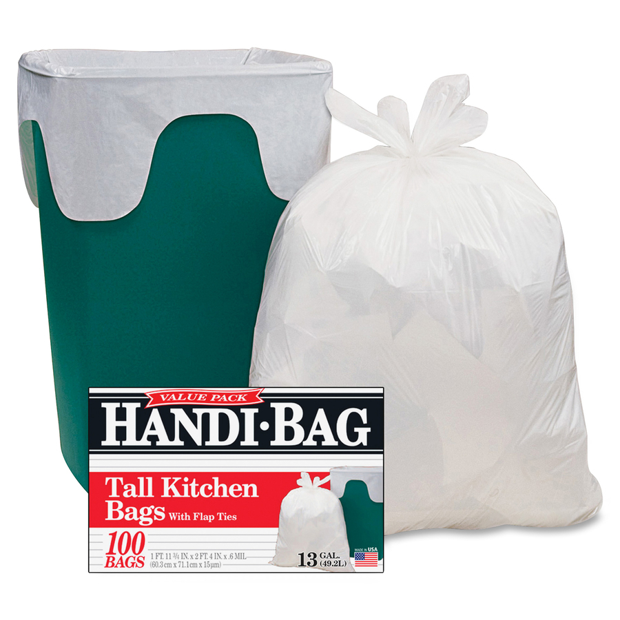 Webster Handi-Bag Flap Tie Tall Kitchen Bags