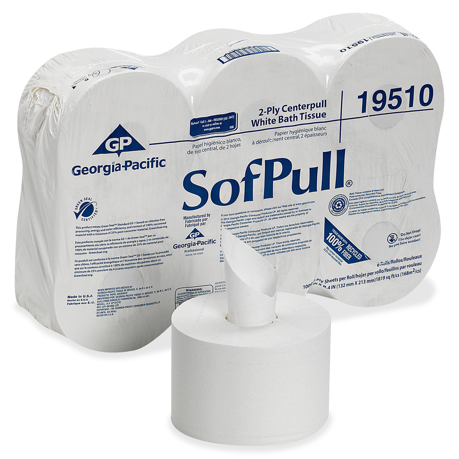 SofPull Dispenser 2ply Bath Tissue - 2 Ply - 5 25