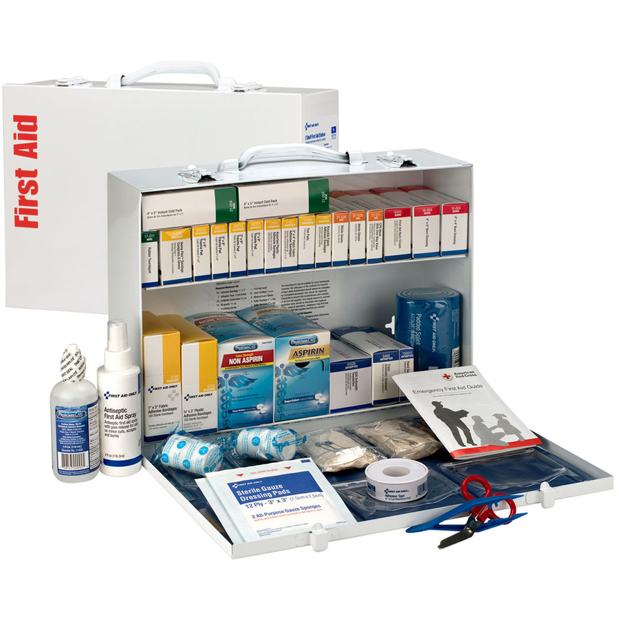 First Aid Only 2-Shelf First Aid Cabinet with Medications