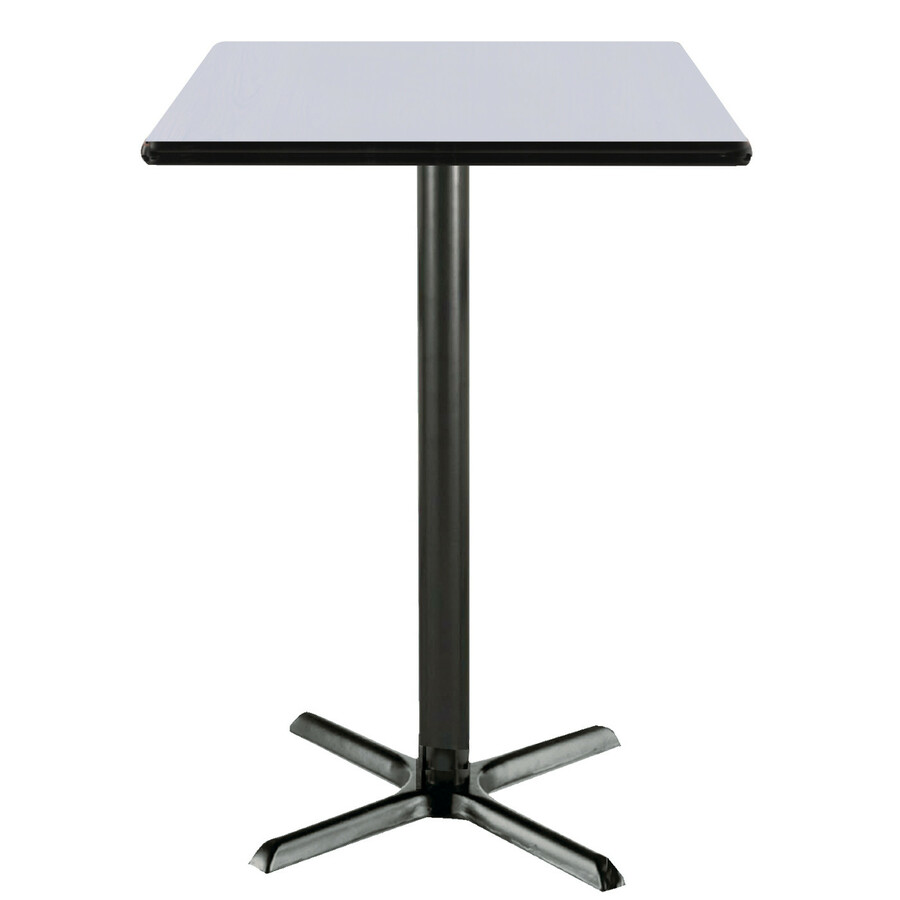 KFISQNAW KFI Square Pedestal Table Office Supply Hut - White square pedestal table