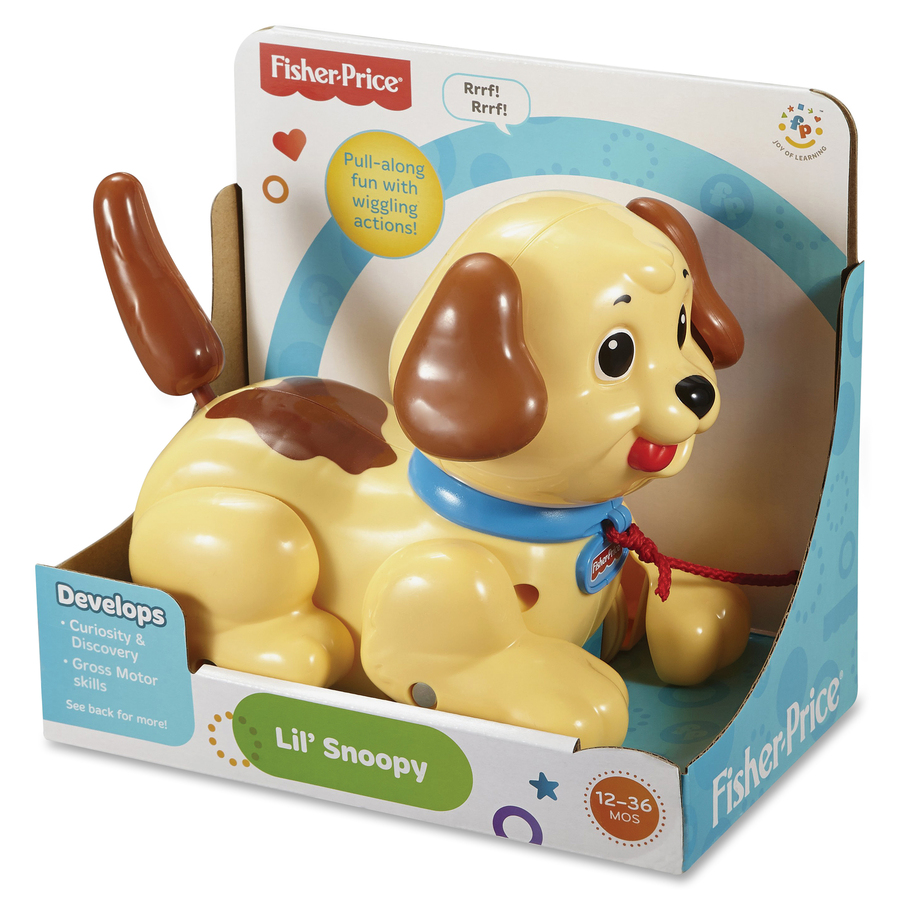 Wonderful Fisher Price Lilu0027 Snoopy Pull Puppy Along For Sounds And Motions   Ears  Wiggle   Tail Shakes And Puppy Bbarks