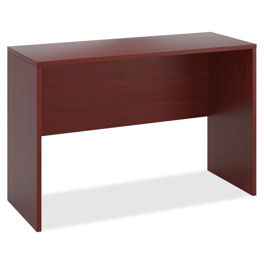 The Hon Company Hon 10500 Standing Height Desk Shell 60 X 42 X 24 Square Edge Material Wood Finish Thermofused Laminate Tfl Mahogany