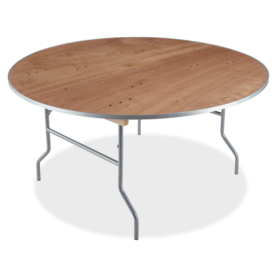 Folding Round Table Top.Iceberg Natural Plywood Round Folding Table Round Top Folding Base 0 75 Table Top Thickness X 60 Table Top Diameter 29 Height Natural