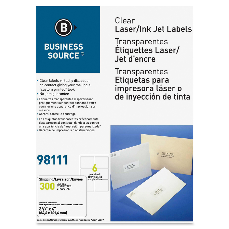 Business source clear address labels for Business source label templates